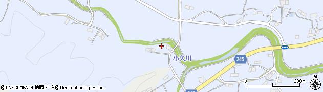 福島県いわき市大久町小久(小屋下)周辺の地図