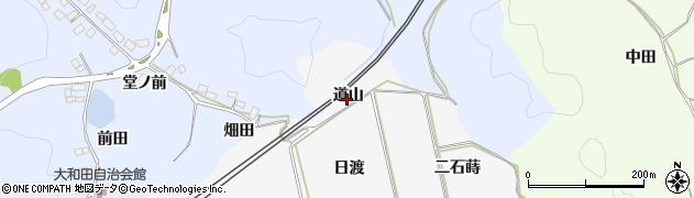 福島県白河市久田野(道山)周辺の地図