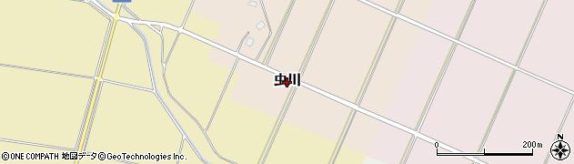 新潟県上越市虫川周辺の地図