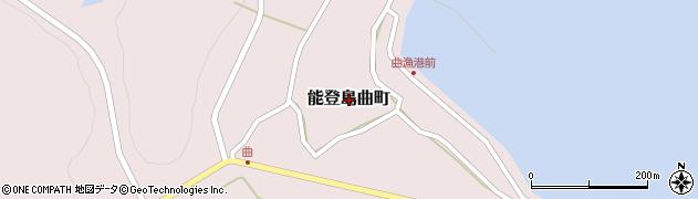 石川県七尾市能登島曲町周辺の地図