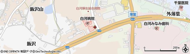福島県白河市六反山周辺の地図