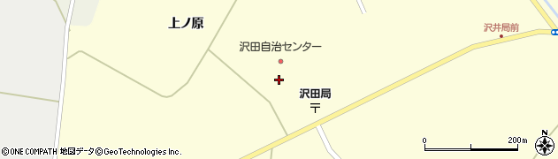 沢田自治センター周辺の地図