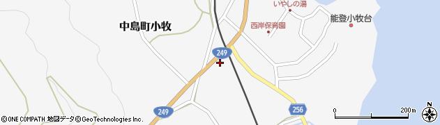 石川県七尾市中島町小牧(レ)周辺の地図