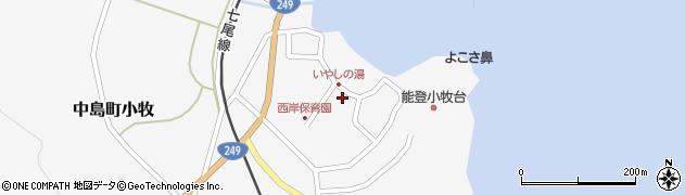石川県七尾市中島町小牧(ヨ)周辺の地図