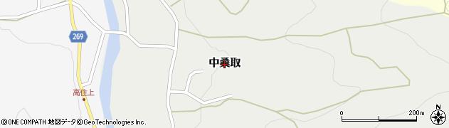新潟県上越市中桑取周辺の地図