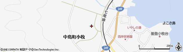 石川県七尾市中島町小牧(ツ)周辺の地図