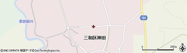 新潟県上越市三和区神田周辺の地図