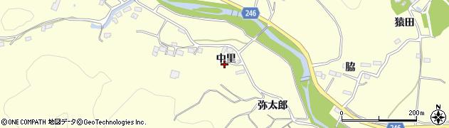 福島県いわき市大久町大久(中里)周辺の地図