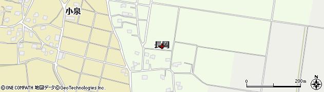 新潟県上越市長岡周辺の地図