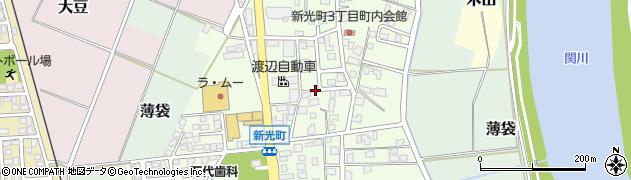 新潟県上越市新光町周辺の地図