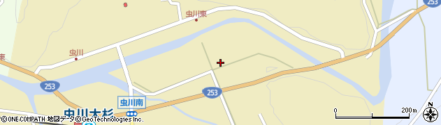 新潟県上越市浦川原区虫川周辺の地図