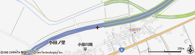 福島県白河市小田川上早稲田周辺の地図