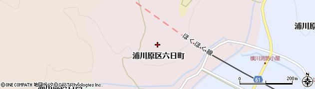 新潟県上越市浦川原区六日町周辺の地図