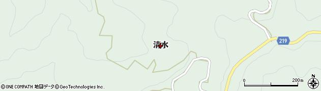 新潟県十日町市清水周辺の地図