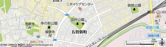 新潟県上越市五智新町周辺の地図
