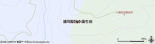 新潟県上越市浦川原区小蒲生田周辺の地図