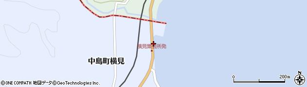 石川県七尾市中島町横見(ヌ)周辺の地図