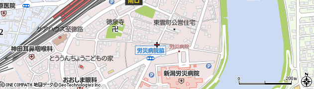 新潟県上越市東雲町周辺の地図
