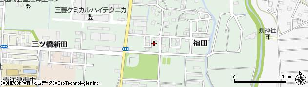 新潟県上越市福田周辺の地図