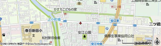 新潟県上越市安江周辺の地図