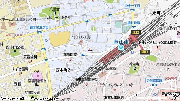 〒942-0004 新潟県上越市西本町の地図