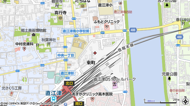〒942-0003 新潟県上越市東町の地図