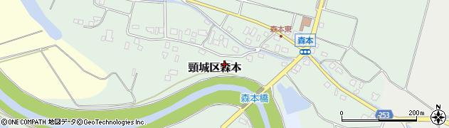 新潟県上越市頸城区森本周辺の地図