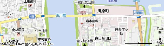 新潟県上越市川原町周辺の地図