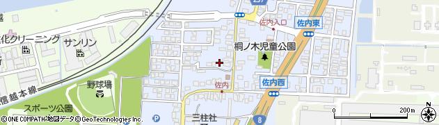新潟県上越市佐内町周辺の地図