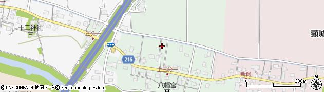 新潟県上越市頸城区上三分一周辺の地図