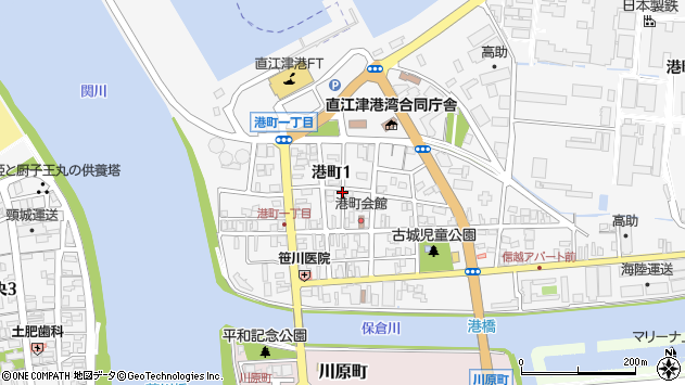 〒942-0011 新潟県上越市港町の地図