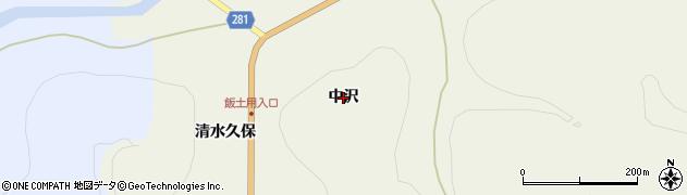 福島県白河市大信増見(中沢)周辺の地図