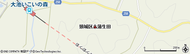 新潟県上越市頸城区大蒲生田周辺の地図