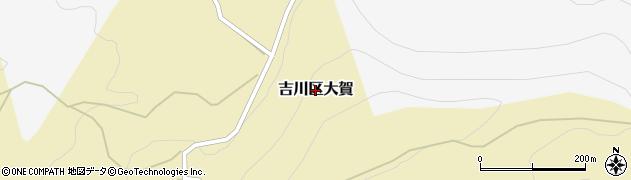 新潟県上越市吉川区大賀周辺の地図