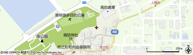 新潟県上越市高崎新田周辺の地図
