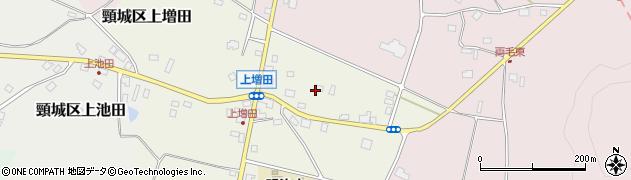 新潟県上越市頸城区上増田周辺の地図