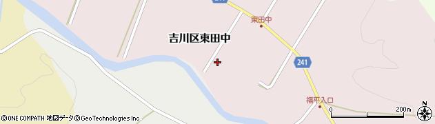 新潟県上越市吉川区東田中周辺の地図