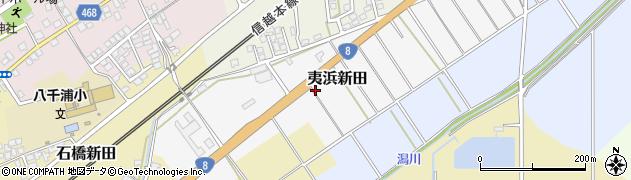 新潟県上越市夷浜新田周辺の地図