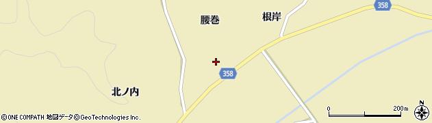 福島県いわき市三和町中三坂(腰巻)周辺の地図