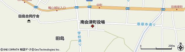 福島県南会津町(南会津郡)周辺の地図