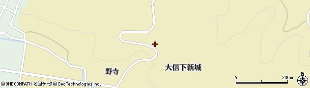 福島県白河市大信下新城(金子山)周辺の地図