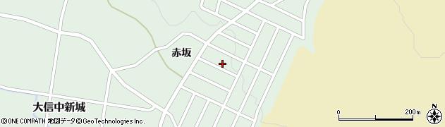 福島県白河市大信中新城周辺の地図