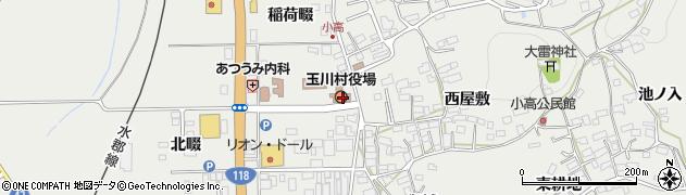 福島県石川郡玉川村周辺の地図