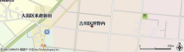 新潟県上越市吉川区坪野内周辺の地図
