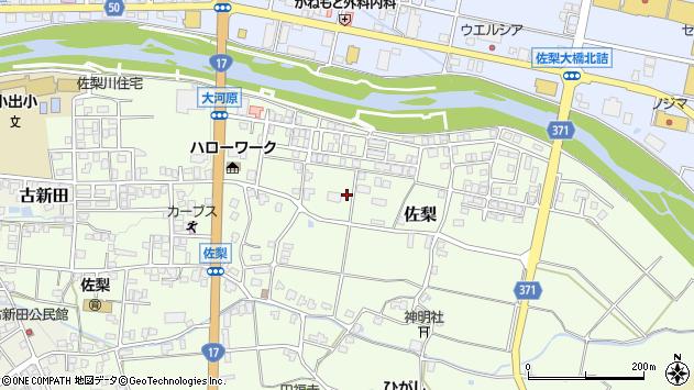 〒946-0021 新潟県魚沼市佐梨の地図