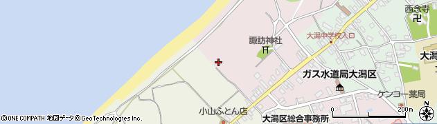 新潟県上越市大潟区四ツ屋浜周辺の地図