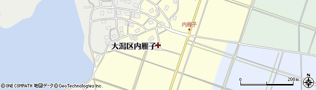 新潟県上越市大潟区内雁子周辺の地図
