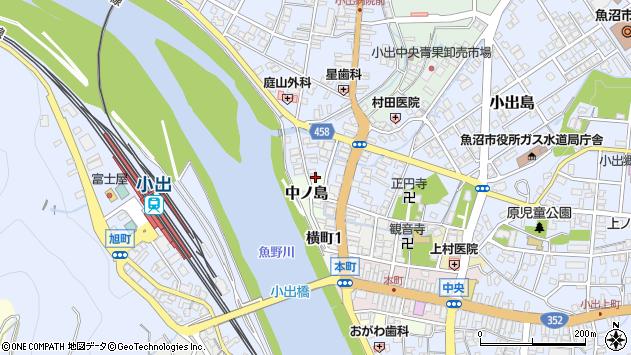 〒946-0006 新潟県魚沼市中之島の地図
