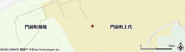 石川県輪島市門前町上代(丙)周辺の地図