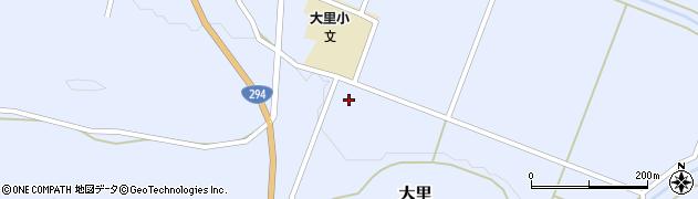 福島県天栄村(岩瀬郡)大里(角田)周辺の地図